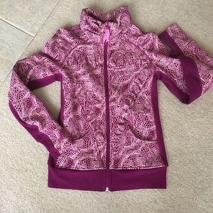 Ivivva Pink Floral Full Zip Jacket w/Thumbholes-14